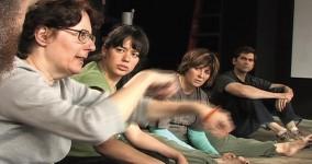 Adam Overton, Diane Lefer, Estela Garcia, Suzan Averitt, Dave Johnson in workshop